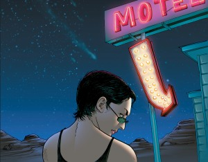 Chelle at a motel