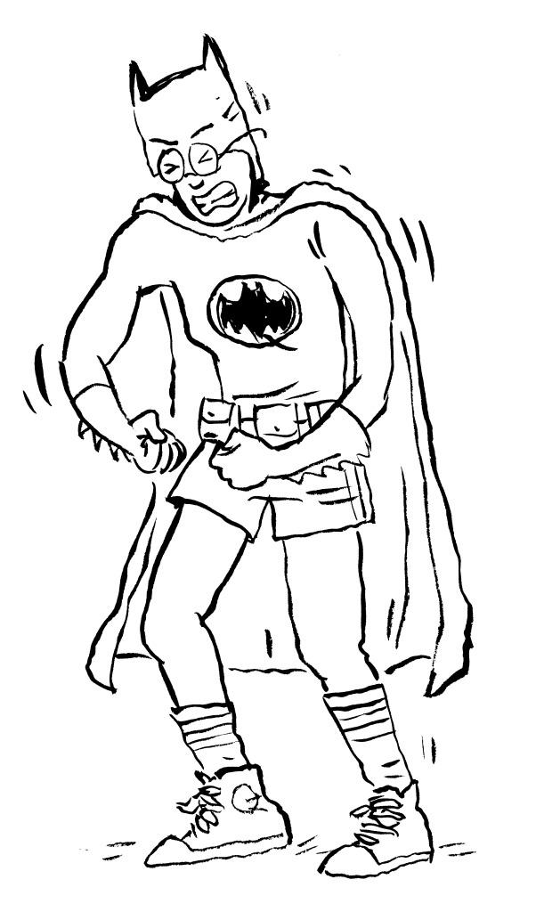 Jane as Batman