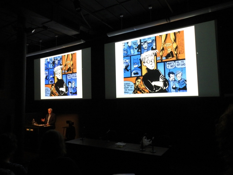 Photo from my Paige's keynote address - Jane's World is on display